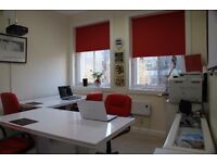 Desk space to rent in central Edinburgh. Bright, modern. £300 per month