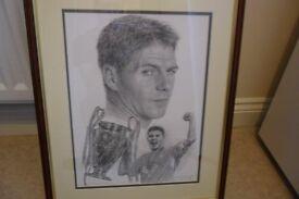 Steven Gerrard Framed Portrait Istanbul 2005