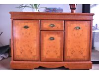 rosewood classical luxury big cabinet with pulleys under it