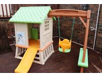 Smoby children's playhouse & swing - excellent condition