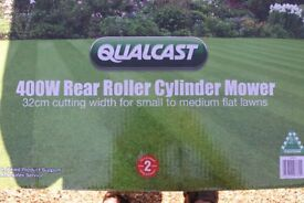 QUALCAST 400W CYLINDER LAWNMOWER (NEW)