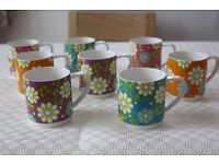 Priced to sell Maxwell and Williams set of 4 stackable mugs - design 'Garden Party'