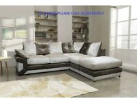 ** SPECIAL OFFER ** BRAND NEW MAX DIAMOND CRUSH VELVET CORNER SOFA OR 3+2 ON SPECIAL OFFER