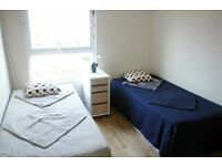LOVELY AND HUGE TWIN ROOM READY TO RENT 2 MINS WALK FROM ST JOHNS WOOD STATION/27P