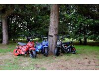 revvi electric kids first scrambler off road bike 2 speed levels -stabilisers -etc £269 -3 colours