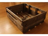 Old fashioned wooden crate