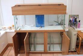 5ft Marine Fish Tank & Sump (Complete Setup Lights/Pump/Skimmer/etc)