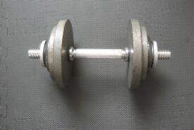 weight - Dumbell heavy duty castiron x 2 sets