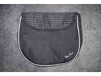 Silver Cross Ventura Car seat APRON footmuff - black / white dots Domino CAN POST