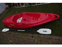 Cruiser sit on Kayak ..single kayak and Paddle