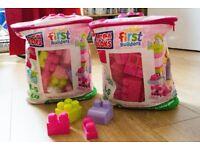 2 pack Multicolour Mega Blocks Bags
