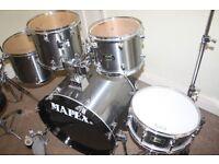 "Mapex Venus Smokey Chrome 5 Piece Drum Kit (22"" Bass) - DRUMS ONLY"