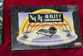 Vintage 1990 NoteAbility Grand Rhythm & Clues Game, Contents All Complete & Good Condition, Histon