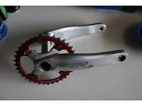 XT Crankset with Blackspire 36 ring