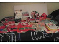 box containing 11kg of rugby programmes and welsh rugby magazines + more