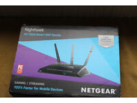 nighthawk net gear ac1900 smart wifi router for gaming /streaming