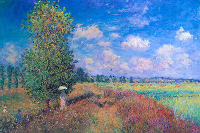 Claude Monet Summer Poppy Field 1875 Oil On Canvas French Impressionist Artist A Claude Monet Impressionist Canvas