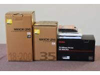 Nikon Lens and filter collection