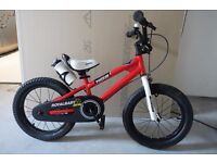 "ROYAL BABY FREESTYLE BMX KIDS BIKES RED WHITE 16"" Virtually new"