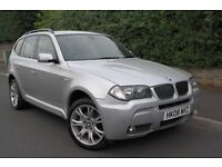 2008 BMW X3 MSPORT FULLY LOADED 12 Months warranty Fantastic condition drives GREAT £6695 BARGAIN!!!