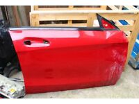 MERCEDES AMG CLA C117 DRIVER SIDE OS FRONT DOOR PANEL JUPITER RED 589 PARTS
