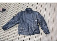 Mens Black LeatherMotor Bike Jacket.