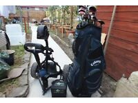 Big Bertha Golf clubs,Electric Cart and Matching Bag.