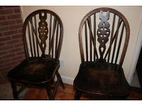Set of 7 dining table chairs - require some restoration