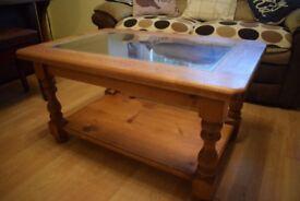 Dark Pine Coffee Table