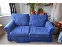 Really Comfy Two Seater Ikea Blue Sofa