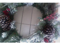 Large Marks and Spencers Christmas wreath