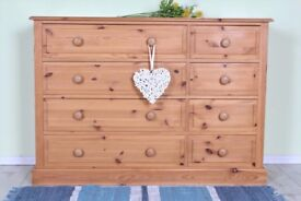 DELIVERY OPTIONS - TOP QUALITY MADE 8 DRAWER CHEST SOLID PINE TONGUE GROOVE
