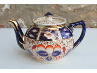 Antique Vintage Arthur Wood Teapot Imari Pattern Gaudy Hand Painted Tea Pot Coffee