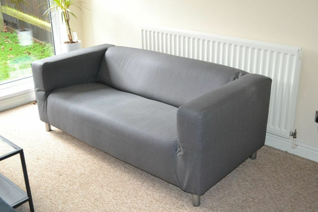 klippan two seat sofa flackarp grey in selly oak west midlands gumtree. Black Bedroom Furniture Sets. Home Design Ideas