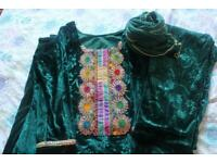 Velvet suits Asian Shalwar Kameez £30 each