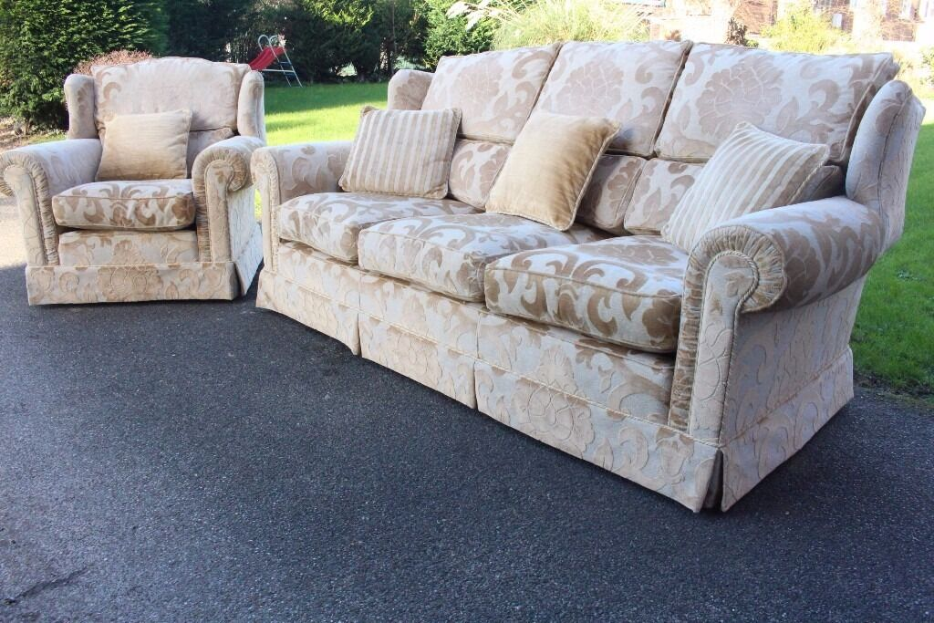 Handmade Stunning Duresta Francesca 3 Piece Suite Sofa 2 Armchairs Rrp 6500 New