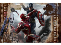 Captain America Wall Decal||Peel & Stick||Removable||High Quality Materials || DIY