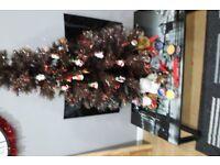 4FT. FIBRE OPTIC BROWN CHRISTMAS TREE.