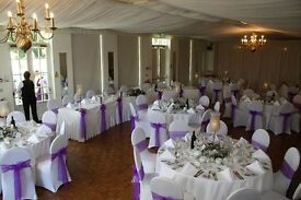 CHAIR COVER FROM £1 INCLUDING FITTING, CHAIR COVER & SASH £1.50 INCLUDING FITTING AND SETUP