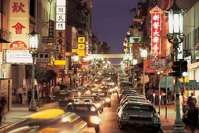 Chinatown Grant Avenue San Francisco California Photo Art Print Poster 18x12 inc