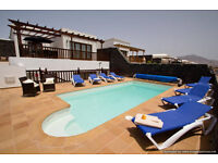 Luxury Villa VL26 in Lanzarote Playa Blanca 5 Beds Sleeps 12 Panoramic Sea Views Hot Tub Play Area
