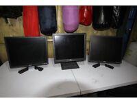 """Three Dell 18"""" Computer monitors"""