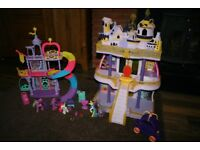 My Little Pony castles bundle and carriage + 4 ponies CAN POST