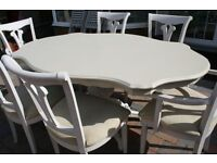 Up-Cycled Shabby Chic Dining Table and 6 Chairs £200 ono