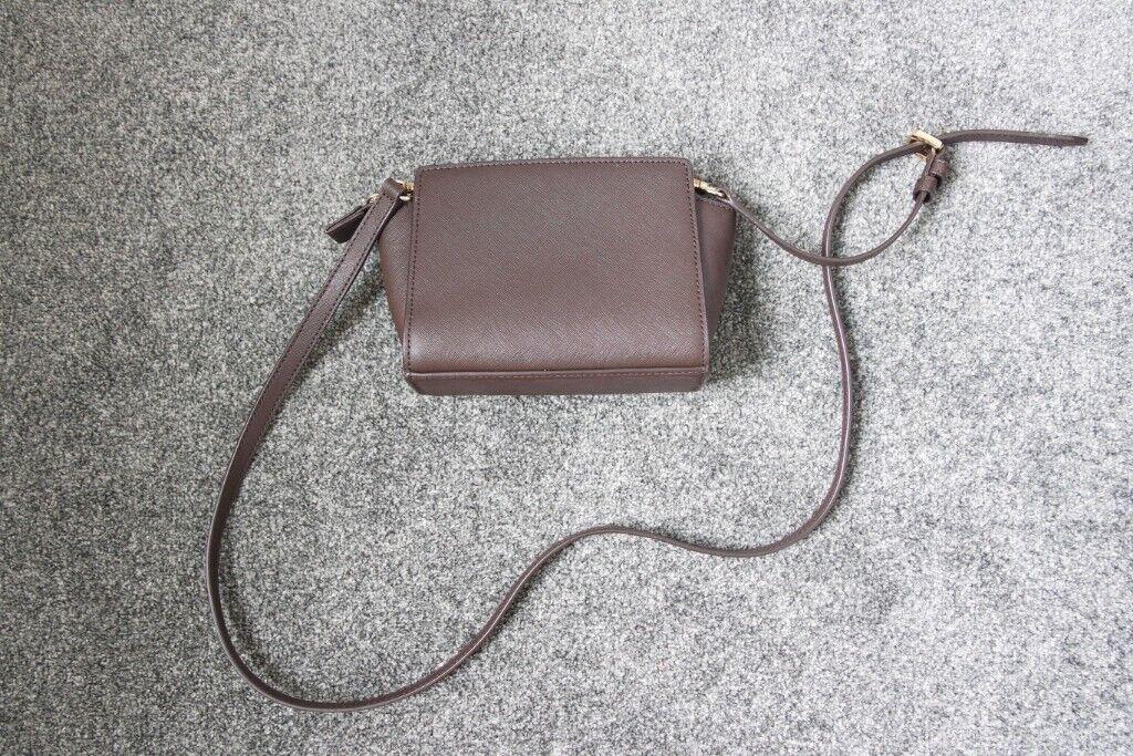 2bcbf57498ee MICHAEL Michael Kors Selma Mini Saffiano Leather Crossbody - Coffee brown