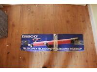 Red Vintage Tasco Telescope 320x600mm No.49TE
