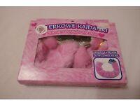 NEW pink furry fluffy handcuffs - novelty for hen night fancy dress bnib