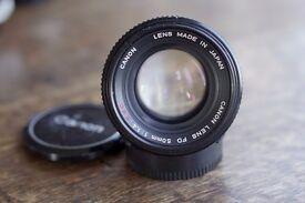 F1.4 50mm manual lens, Canon; Nikon; Minolta, all extremely good condition £75-£90 ea