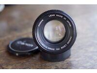 F1.4 manual lenses, Canon Nikon Minolta Pentax, all extremely good condition £75-£90 ea