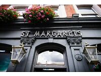 The St. Margarets Tavern is looking for a full time Kitchen Porter to join our team